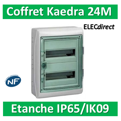 Schneider - Coffret Kaedra 2 rangées 24M - IP65/IK09 - 13964