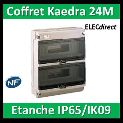 Schneider - Coffret Kaedra 2 rangées 24M - IP65/IK09 - KDR35141