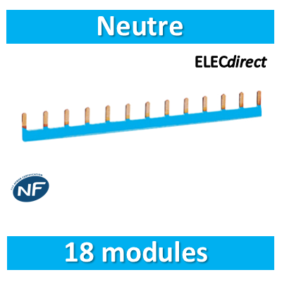 Hager - Peigne d'alimentation 18 Modules Universel Neutre - KB163NG