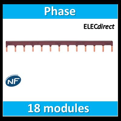 Hager - Peigne d'alimentation 18 Modules Universel Phase - KB163PG