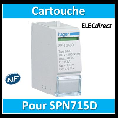 Hager - Cartouche 15KA 275V - SPN015D