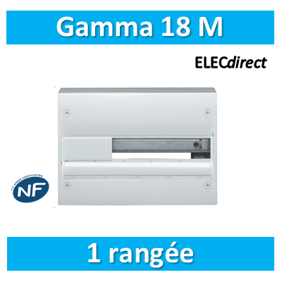Hager - Coffret GAMMA 13 Modules - 1 Rangée de 18M - GD118A