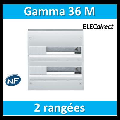 Hager - Coffret GAMMA 36 Modules - 2 Rangées de 18M - GD218A
