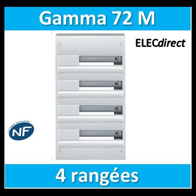 Hager - Coffret GAMMA 72 Modules - 4 Rangées de 18M - GD418A