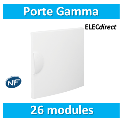 Hager - Porte opaque Gamma 26M pour GD213A - GP213P