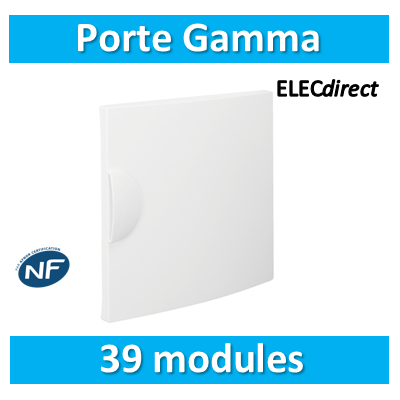Hager - Porte opaque Gamma 39M pour GD313A - GP313P