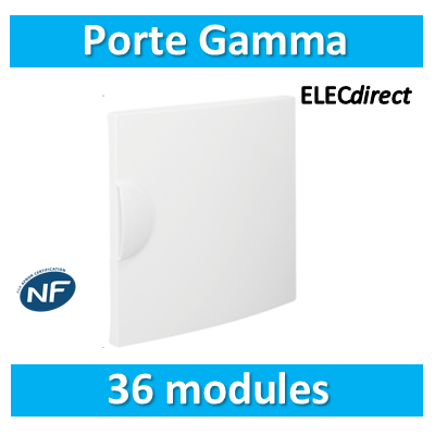 Hager - Porte opaque Gamma 36M pour GD218A - GP218P