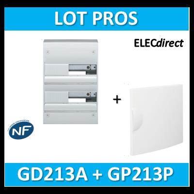 Hager - Coffret GAMMA 26 Modules - 2 Rangées de 13M + porte - GD213A+GP213P