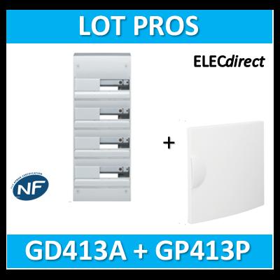 Hager - Coffret GAMMA 52 Modules - 4 Rangées de 13M + porte - GD413A+GP413P