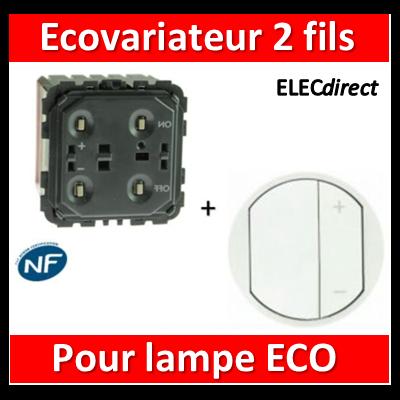 Legrand Céliane - Mécanisme + enjoliveur EcoVariateur 2 fils - 067083+065083