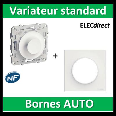 Schneider Odace - Variateur standard - 40.....600W - 2 fils + plaque - s520511+s520702