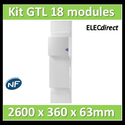 Rehau - Kit Cofralis - GTL  18M - 2600 x 63 x 360 mm - Avec couvercle complet - 733828