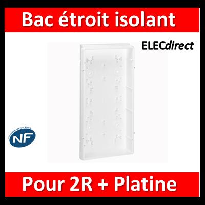 Legrand - Bac étroit isolant - GTL encastré - pour coffret 2 rangées + platine ép. 45 mm - 005104