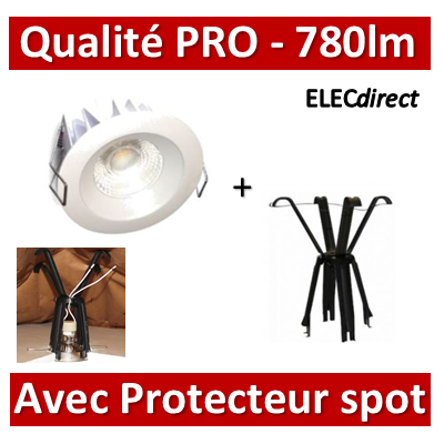 Lited - Spot LED 10W MonoLED - 4000K - 780lm + protecteur Ram - LT-DW-10 + 59202