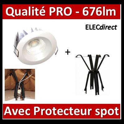 Lited - Spot LED 10W MonoLED - 3000K - 676lm + portecteur Ram - LT-DW-10WW + 59202