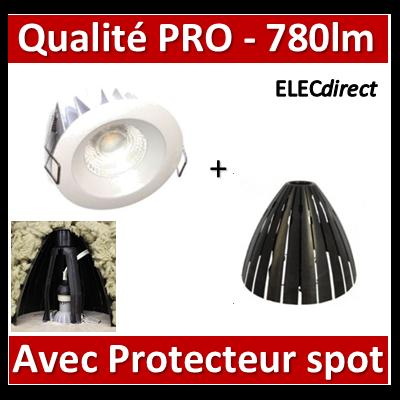 Lited - Spot LED 10W MonoLED - 4000K - 780lm + protecteur Ram - LT-DW-10 + 59205