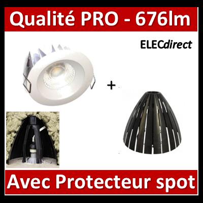 Lited - Spot LED 10W MonoLED - 3000K - 676lm + portecteur Ram - LT-DW-10WW + 59205