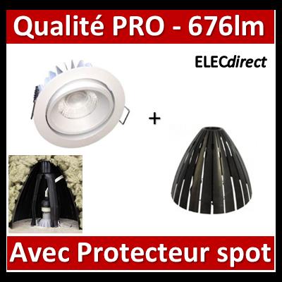 Lited - Spot LED 10W MonoLED Orien. - 3000K - 676lm + protecteur Ram - LT-DWO-10WW + 59205