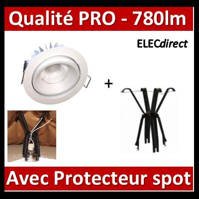 Lited - Spot LED 10W MonoLED Orien. - 4000K - 780lm + protecteur Ram - LT-DWO-10 + 59202