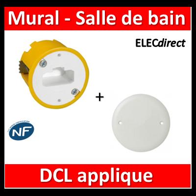 Legrand Batibox - Boîte luminaires pour applique + Couvercle IP44 - Prof. 40 - 089304+089504