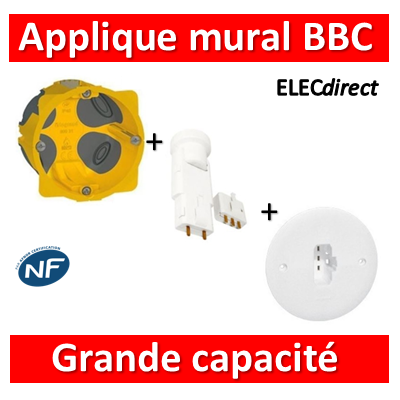 Legrand Batibox - Boîte luminaires pour applique grande capacité BBC Prof. 40 - 080021+089594+11127