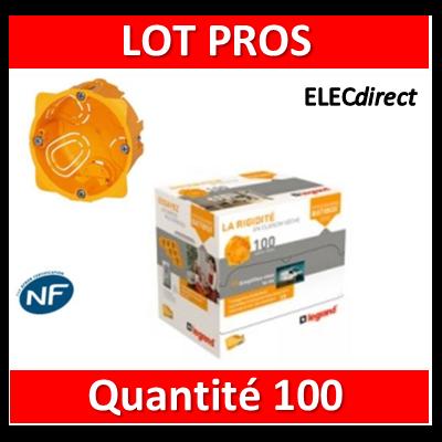 Legrand Batibox - LOT PROS - Boîte d'encastrement 1 poste - Prof. 40 - 080041 x100