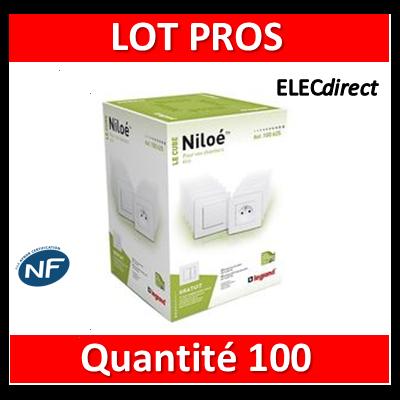 Legrand Niloé - LOT PROS - Prise de courant 2P+T 16A - Blanc 664735x100