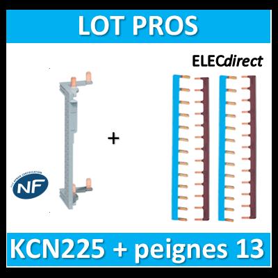 Hager - Répartition vertical 2 R + peigne d'alimentation 13M - KCN225+KB163Nx2+KB163Px2