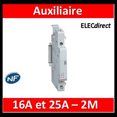 Legrand - Auxiliaire pour contacteur 16A et 25A et 2M - Contact aux inverseur - 412430