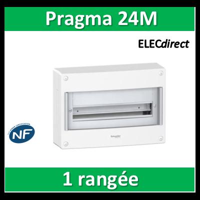 Schneider - Coffret électrique PRAGMA 24 modules - 1 rangée de 24M - PRA10265W