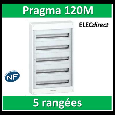 Schneider - Coffret électrique PRAGMA 120 modules - 5 rangées de 24M - PRA10269W