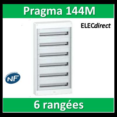 Schneider - Coffret électrique PRAGMA 144 modules - 6 rangées de 24M - PRA10270W