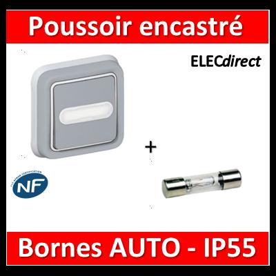 Legrand Plexo - Bouton poussoir plexo sonnerie porte étiquette encastré - IP55/IK07 - 069824