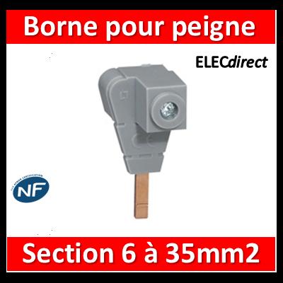 Legrand - Borne de raccordement pour tout peigne - section 6 à 35 mm² - 404906