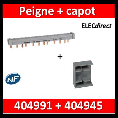 Legrand - Peigne d'alimentation HX3 - 4P - Tétra - Pour bornes à vis 57M - L au m + capot - 404945+404991