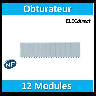 Hager - Obturateur 12 modules en bande - JP014