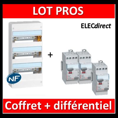 Legrand - LOT PROS - 401223+411611x2+411617