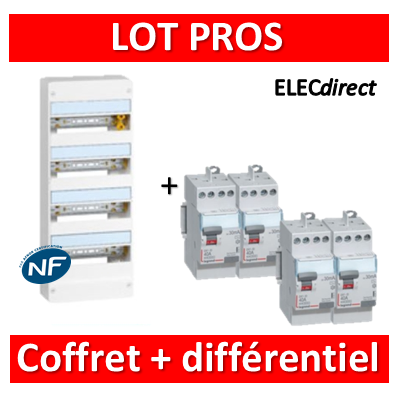 Legrand - LOT PROS - 401214+411611x3+411617