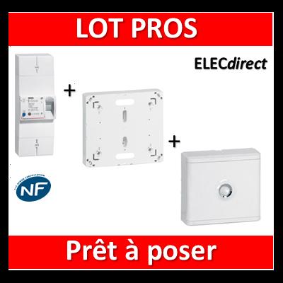 Legrand - Disjoncteur de branchement EDF + platine + habillage + porte - 401003+401191+401185