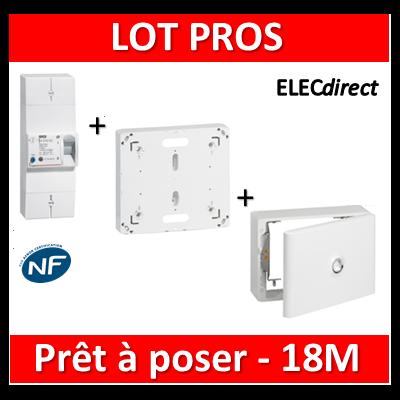 Legrand - Disjoncteur de branchement EDF 18M + platine + habillage + porte - 401001+401191+401189