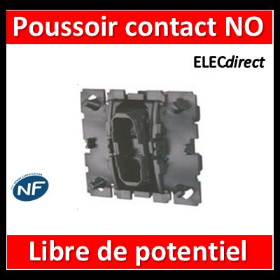 Legrand - Poussoir Céliane - 6 A - contact NO - bornes libre de potentiel - 067034