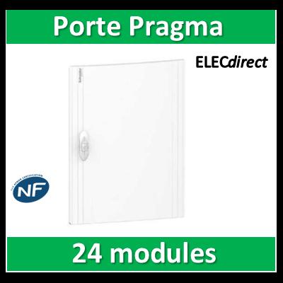 Schneider - Porte opaque blanche coffret PRAGMA IP40/IK09 - 1 rangée 24 modules - PRA16124