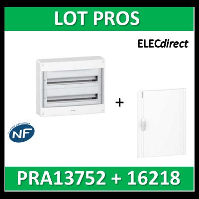 Schneider - Coffret électrique PRAGMA 36 modules - 2R de 18M + porte opaque - PRA13752+PRA16218