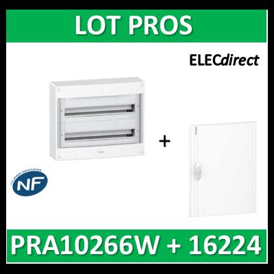 Schneider - Coffret électrique PRAGMA 48 modules - 2R de 24M + porte opaque - PRA10266W+PRA16224