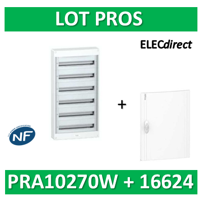 Schneider - Coffret électrique PRAGMA 144 modules - 6R de 24M - PRA10270W+PRA16624