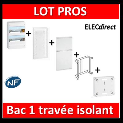 Legrand - Bac étroit isolant complet + tableau + fixation + porte + platine - prêt à l'emploi
