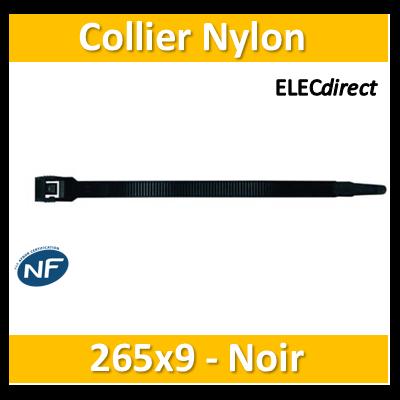 Sapiselco - Collier de fixation nylon - noir - 265x9 - boîte de 100