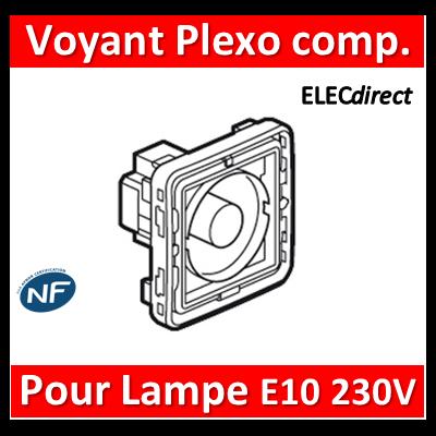 LEGRAND - Voyant  Plexo composable gris/blanc - pour lampe E10 - 230 V - 069583