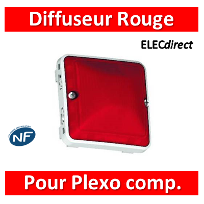 LEGRAND - Diffuseur rouge Prog Plexo composable - 069591