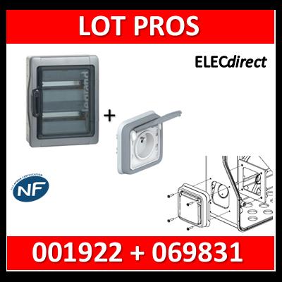 Legrand - Coffret étanche Plexo 24 modules + PC plexo encastrée - 2 rangées - IP65/IK09 - 001922+069831